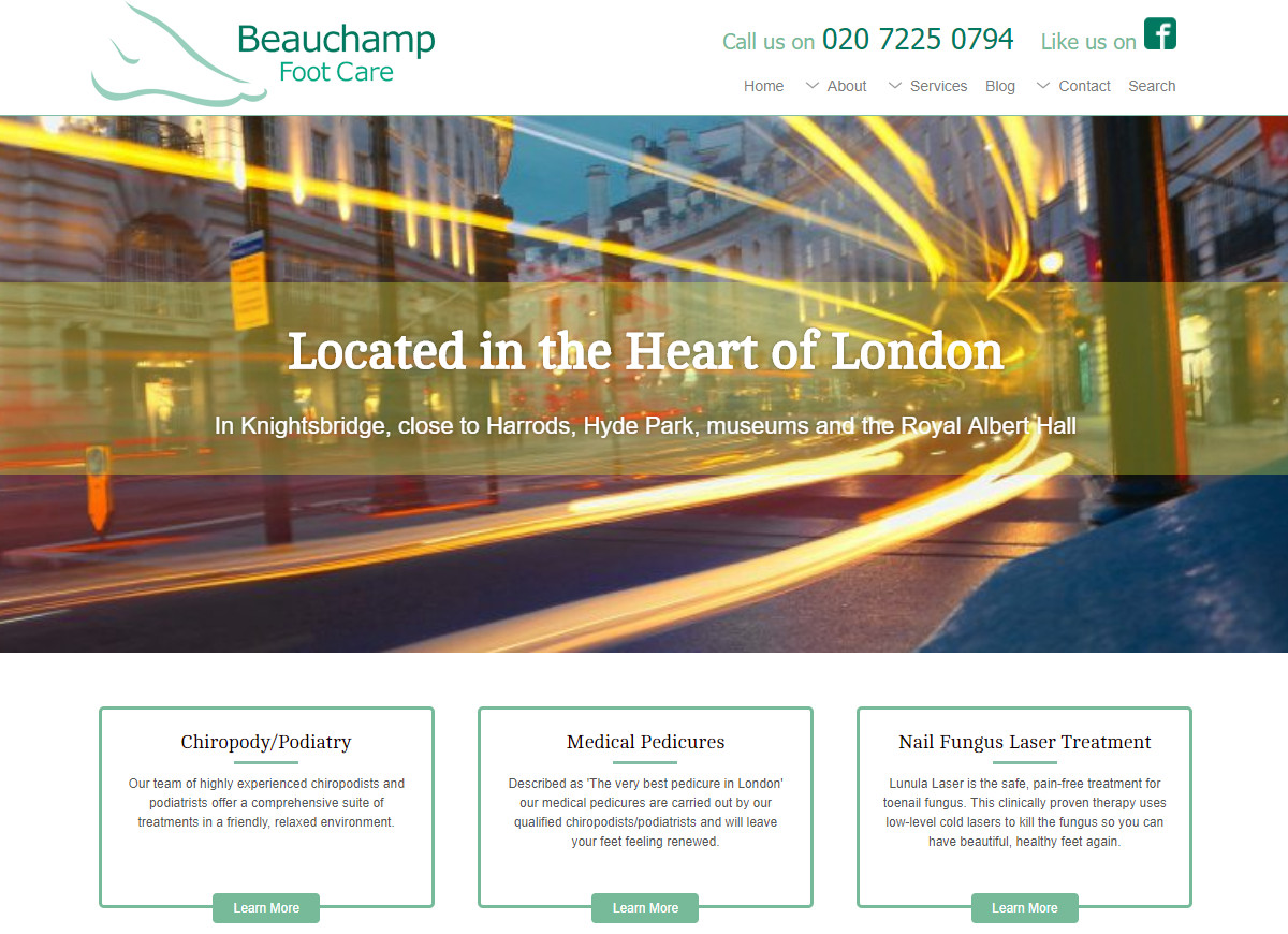 Welcome to the All New Beauchamp Foot Care Website