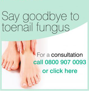 Say Goodbye to toenail fungus - Click here for a consultation